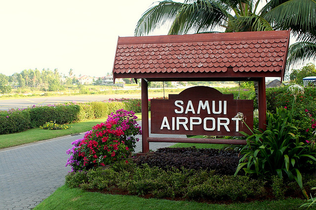 Samui Airport entrance