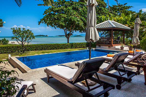 2 Bedroom Option Beach Front Villa with Private Pool at Plai Laem Koh Samui