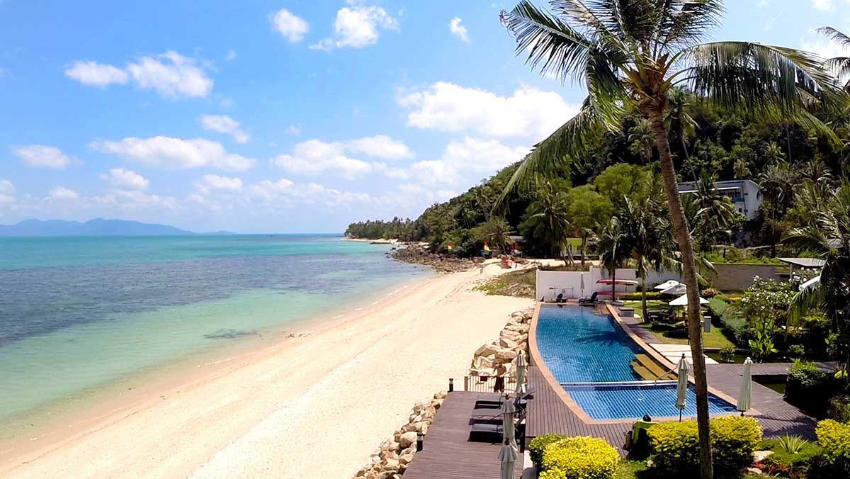 4 Bedroom Option Luxury Beach Front Villa with Private Pool at Bang Por Koh Samui