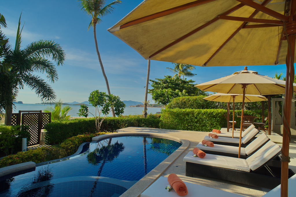 3 Bedroom Beach Front Villa with Private Pool at Plai Laem Ko Samui