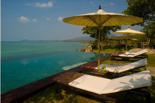 3 Bedroom Option Beach Front Villa with Private Pool at Laem Sett Koh Samui