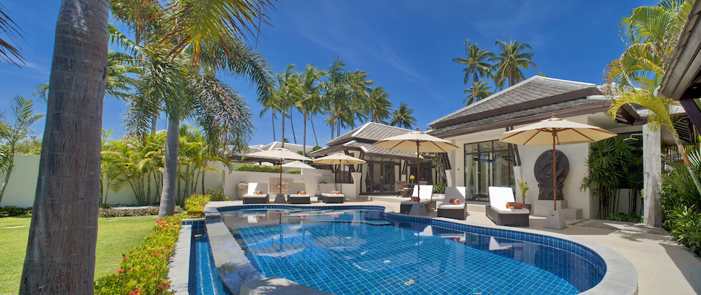 2 Bedroom Option Beach Front Villa with Private Pool at Plai Laem Samui