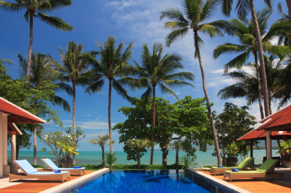 Five Bedroom Beach Front Villa with Private Pool at Lipa Noi Koh Samui