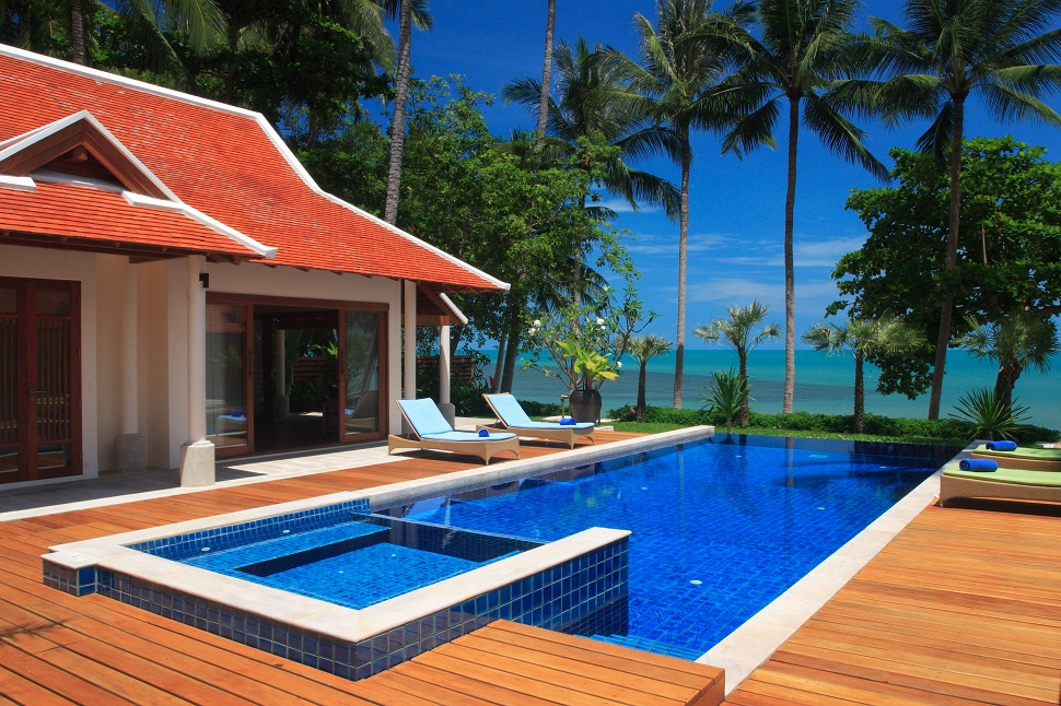 Three Bedroom Option Beach Front Villa with Private Pool at Lipa Noi Koh Samui