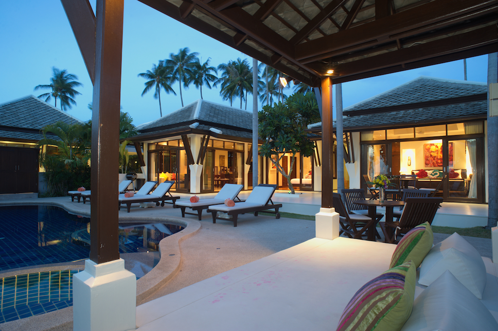 3 Bedroom Beach Front Holiday Villa with Pool at Plai Laem Koh Samui