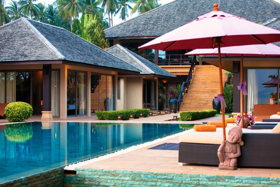5 Bedroom Beach Front Villa with Private Pool at Thong Krut Koh Samui
