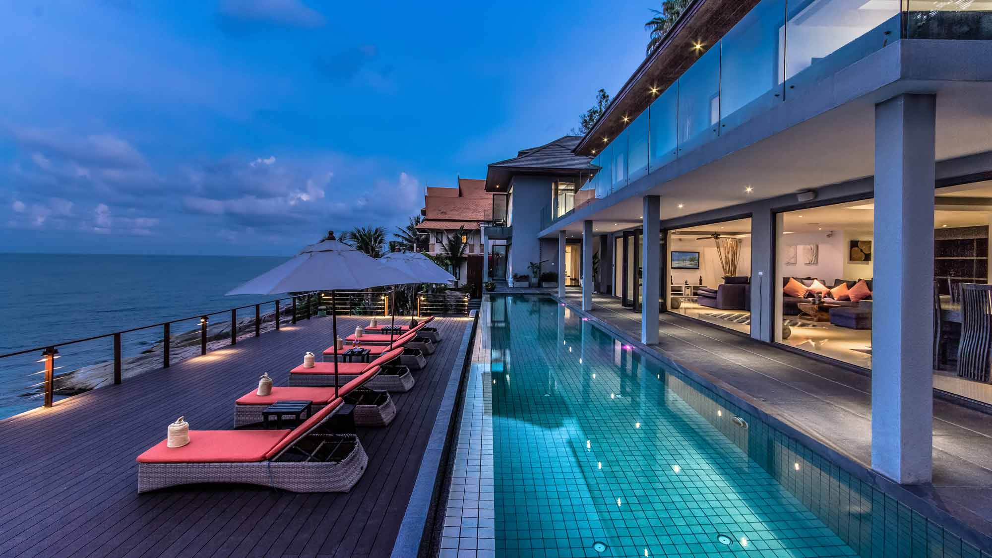 4 Bedroom Option Sea View Villa with Private Pool at Chaweng Koh Samui Thailand