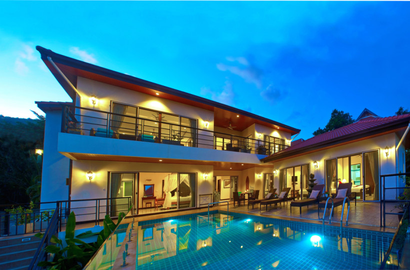 2 Bedroom Option Sea View Villa with Pool at Chaweng Ko Samui