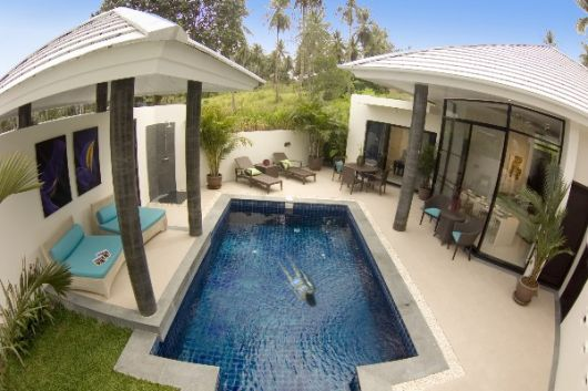 3 Bedroom Garden View Villa with Pool at Choeng Mon Ko Samui Thailand