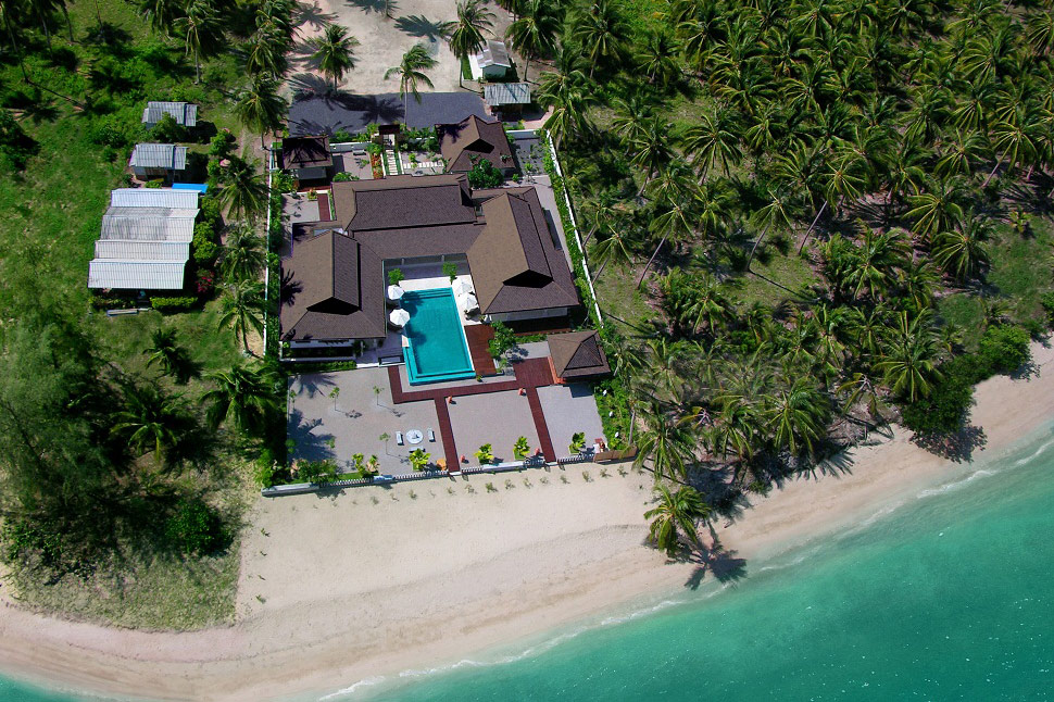 3 Bedroom Option Beach Front Villa with Private Pool at Laem Sett Samui