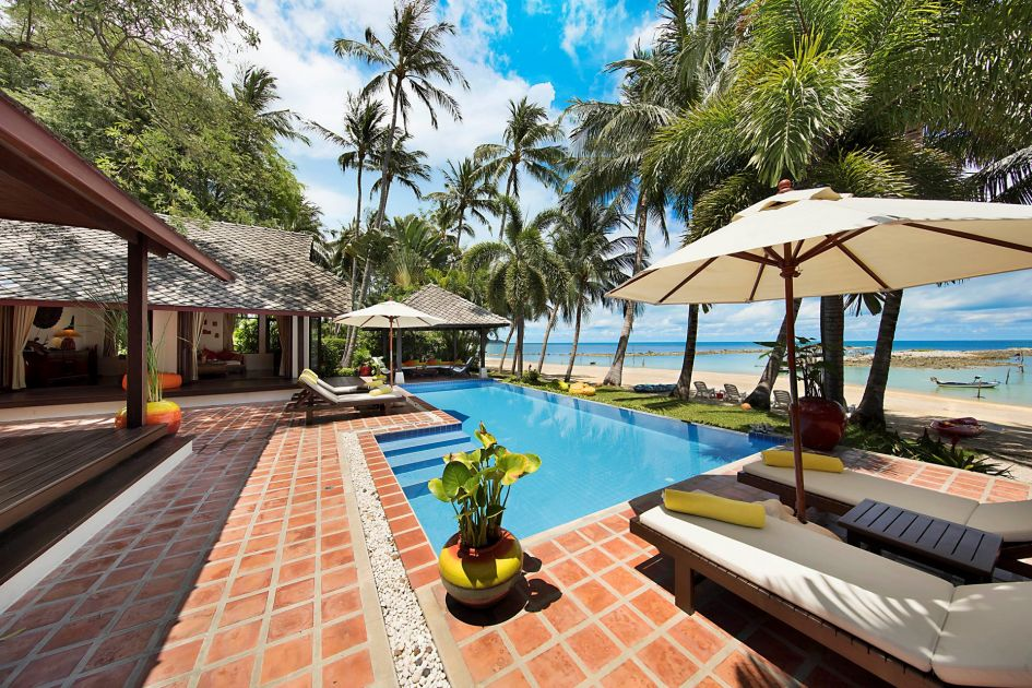 3 Bedroom Option Beach Front Villa with Private Pool at Laem Sor Koh Samui