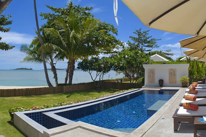 2 Bedroom Option Beach Front Holiday Villa with Pool at Plai Laem Ko Samui