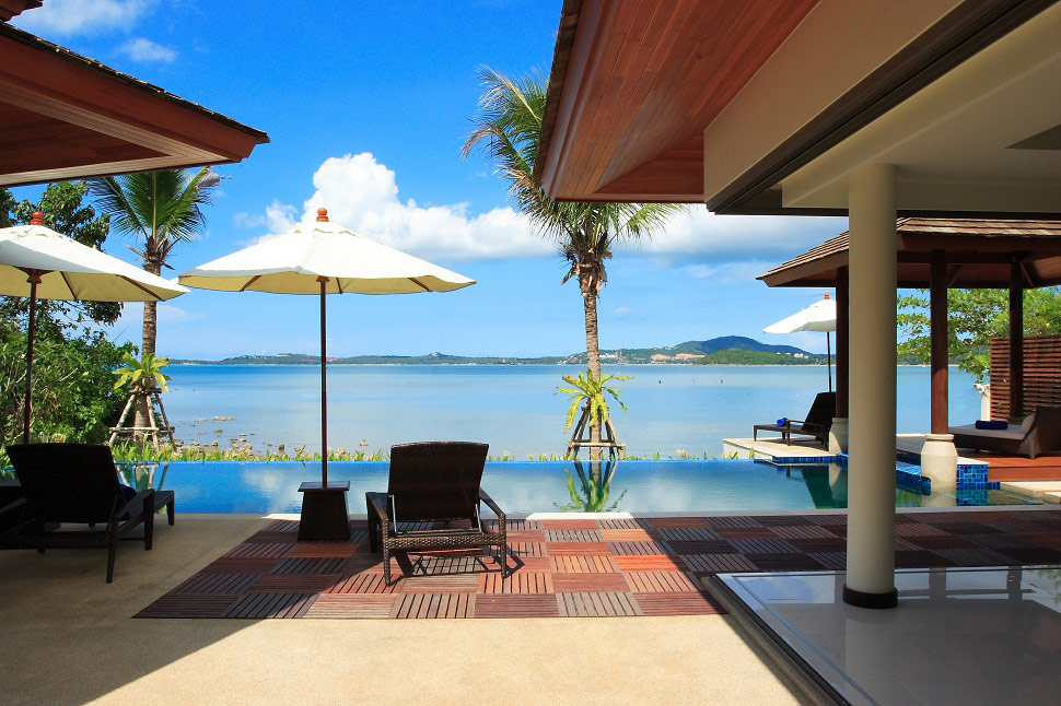 4 Bedroom Beach Front Villa with Private Pool at Bophut Samui Thailand