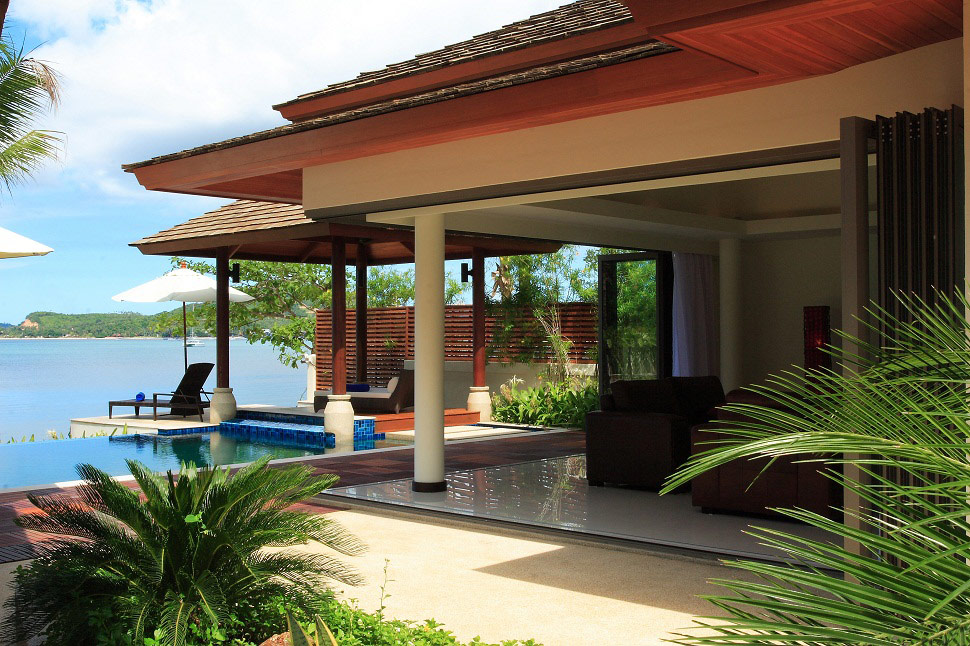 2 Bedroom Option Beach Front Villa with Private Pool at Bophut Samui Thailand