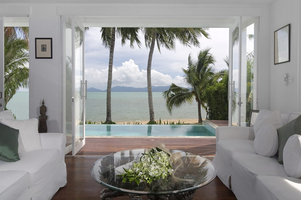 2 Bedroom Option Beach Front Villa with Private Pool at Bophut Koh Samui Thailand