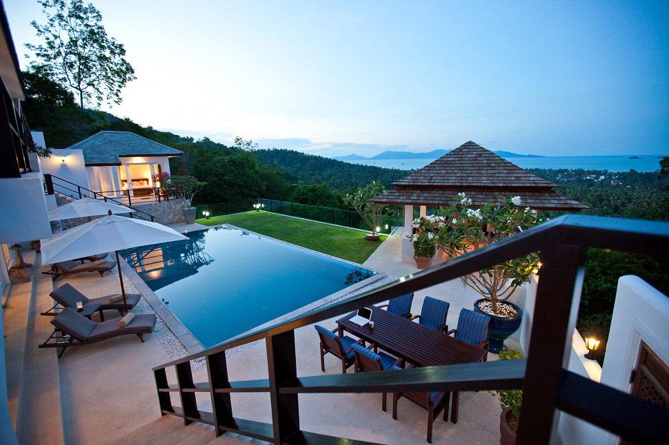 4 Bedroom Sea View Villa with Pool at Bophut Samui