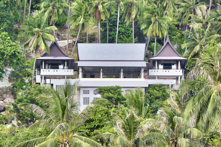4 Bedroom Sea View  Villa with Private Pool at Laem Sett Koh Samui Thailand