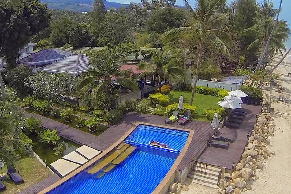 2 Bedroom Option Beach Front Villa with Private Pool at Bang Por Ko Samui