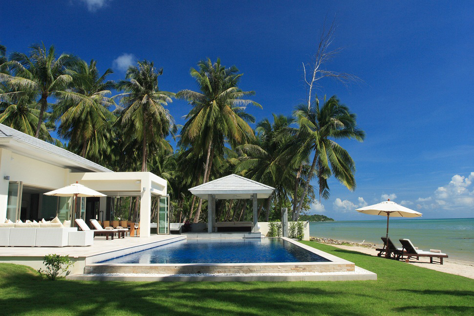 5 Bedroom Luxury Beach Front Villa with Pool at Laem Sett Koh Samui