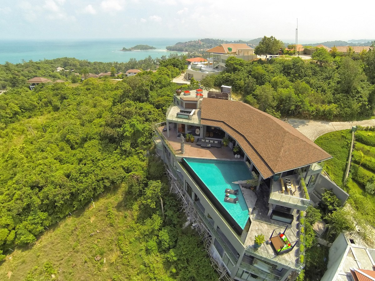 5 Bedroom Option Sea View Villa with Pool at Choeng Mon Ko Samui Thailand