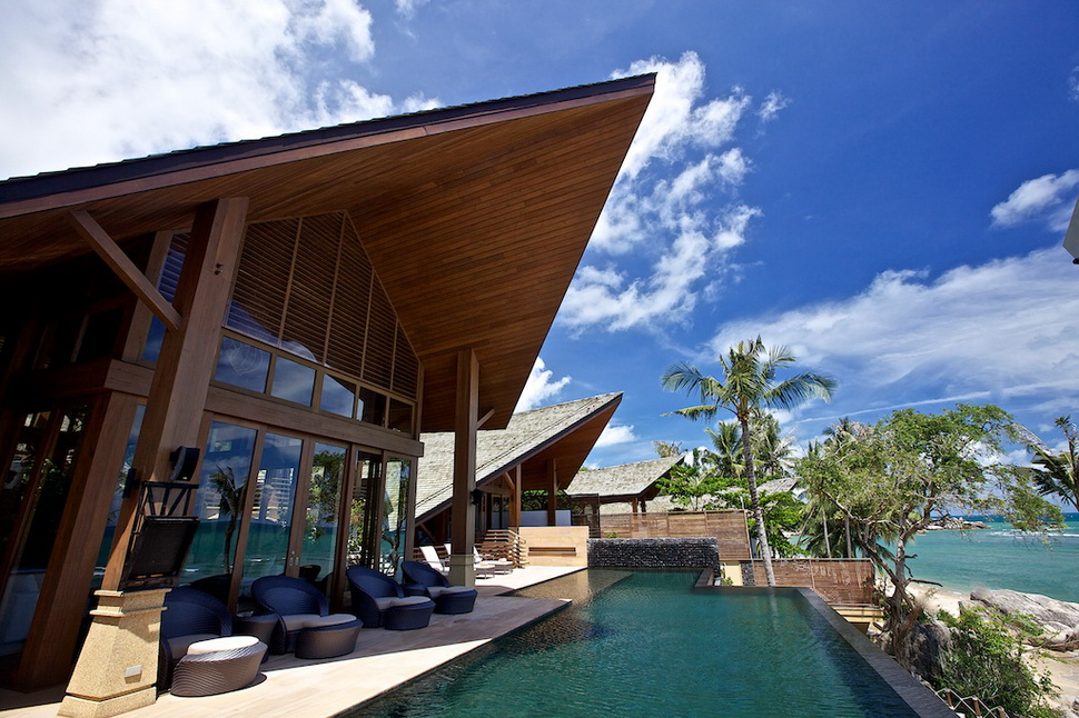 5 Bedroom Beach Front Villa with Private Pool at Lamai Koh Samui