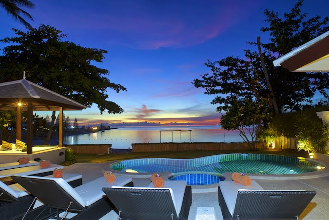 2 Bedroom Option Luxury Beach Front Villa with Pool at Plai Laem Samui