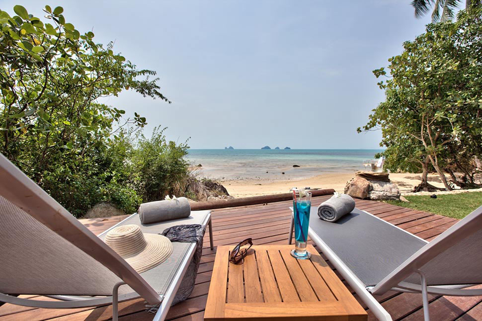 5 Bedroom Beach Front Villa with Private Pool at Taling Ngam Samui