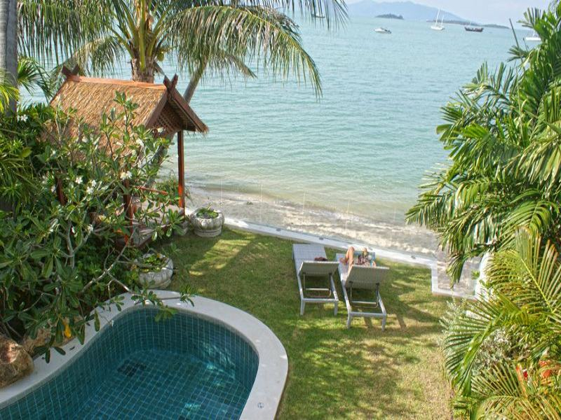 3 Bedroom Beach Front Villa with Pool at Bangrak Koh Samui