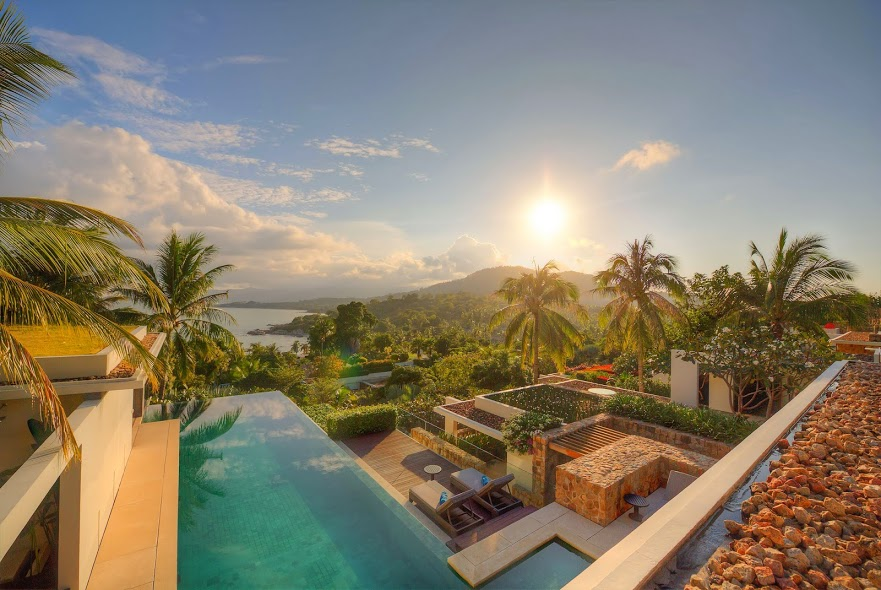 4 Bedroom Sea View Villa with Pool at Choeng Mon Ko Samui Thailand