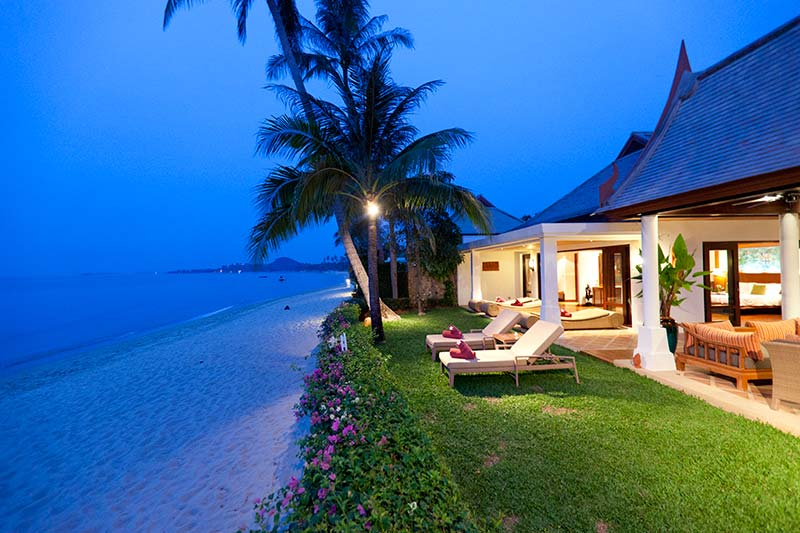4 Bedroom Option Luxury Beach Front Villa with Private Pool at Maenam Koh Samui