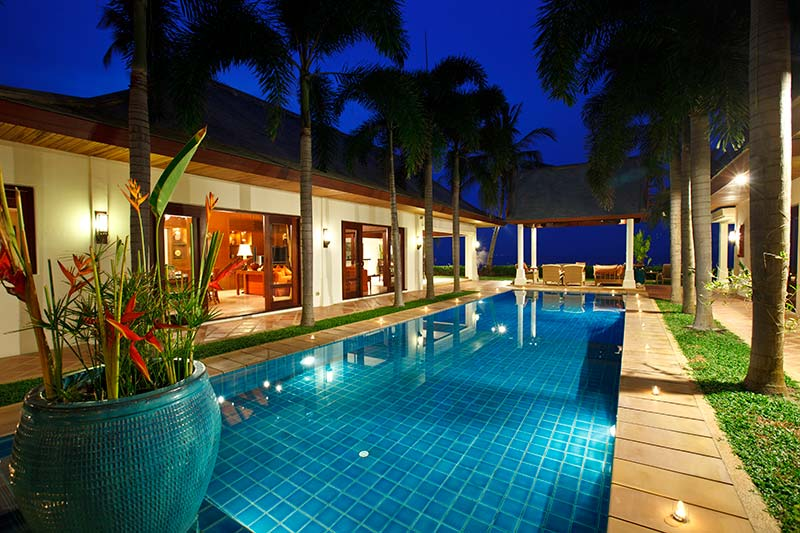 3 Bedroom Option Beach Front Villa with Private Pool at Maenam Koh Samui