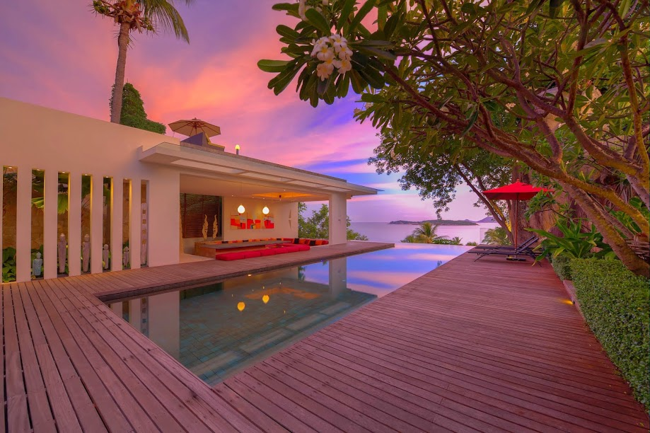 5 Bedroom Sea View Villa with Pool at Choeng Mon Samui Thailand