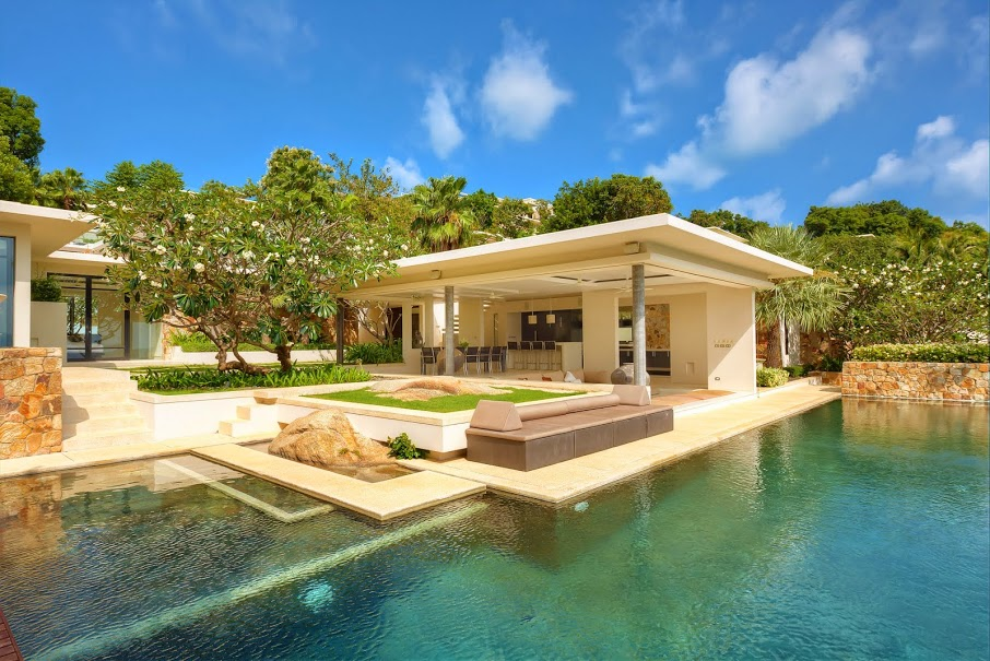 Five Bedroom Sea View Villa with Private Pool at Choeng Mon Koh Samui