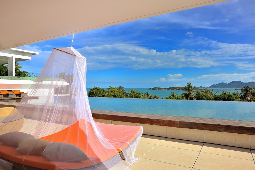 7 Bedroom Sea View Villa with Private Pool at Choeng Mon Koh Samui
