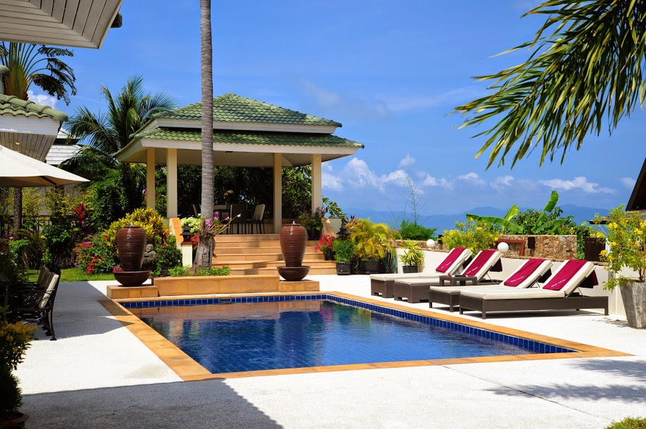 3 Bedroom Sea View Villa with Pool at Bophut Samui Thailand