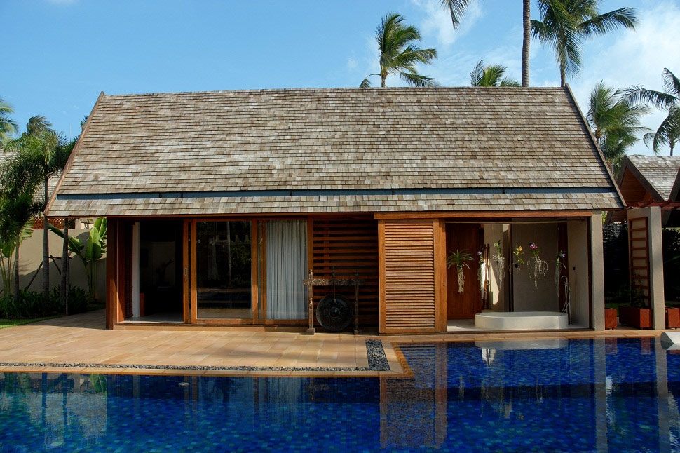 4 Bedroom Option Luxury Beach Front Villa with Private Pool at Lipa Noi Samui Thailand