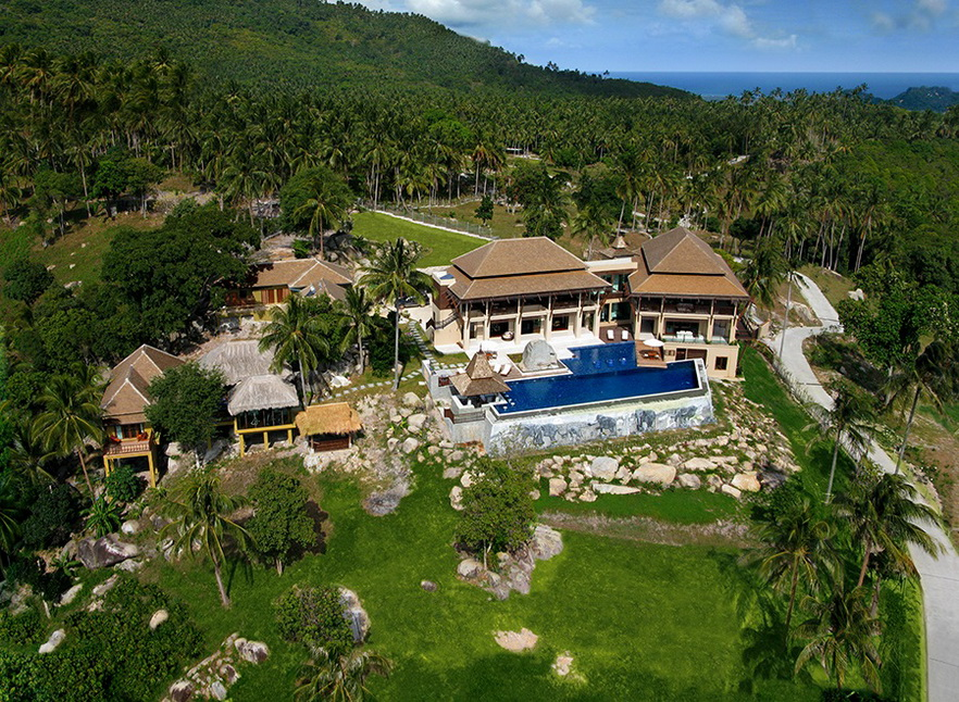 6 Bedroom Sea View Villa with Private Pool at Taling Ngam Samui