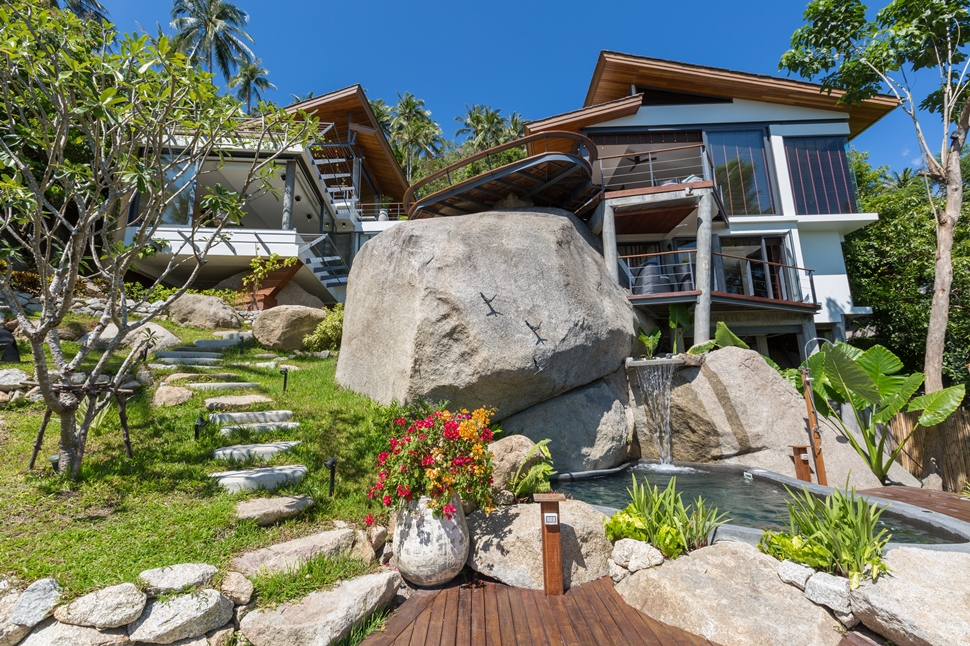 3 Bedroom Sea View Villa with Private Pool at Laem Sett Koh Samui