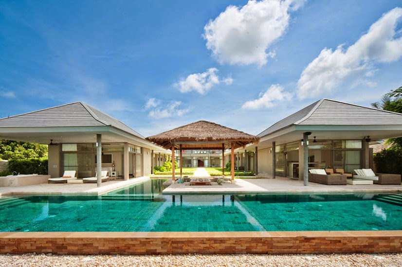 5 Bedroom Option Beach Front Villa with Private Pool at Plai Laem Ko Samui