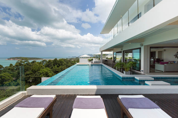 6 Bedroom Sea View Villa with Pool at Chaweng Koh Samui Thailand