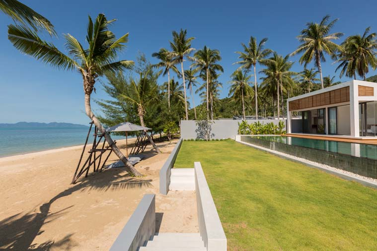 6 Bedroom Luxury Beach Front Villa with Pool at Bang Por Koh Samui