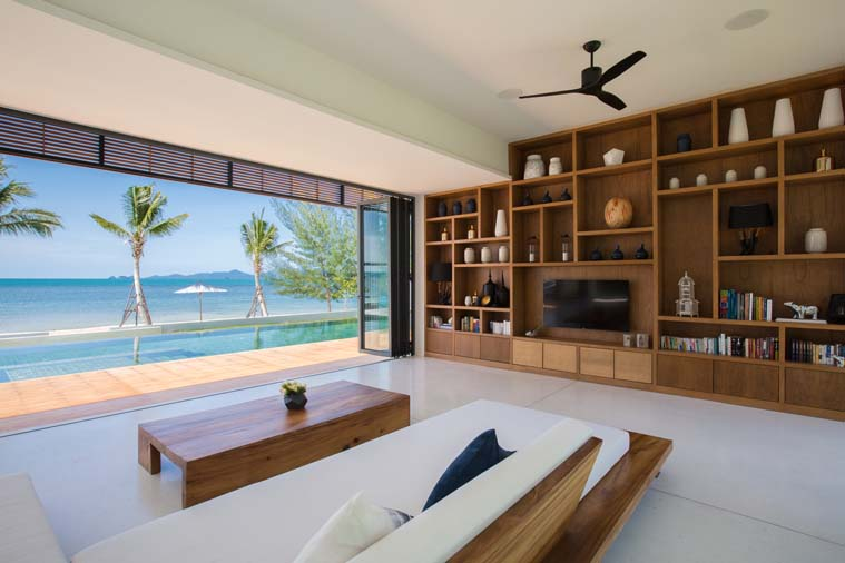5 Bedroom Option Luxury Beach Front Villa with Pool at Bang Por Koh Samui