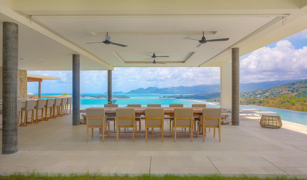 6 Bedroom Se View Villa with Private Pool at Choeng Mon Samui