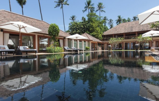 4 Bedroom Option Beach Front Villa with Private Pool at Laem Sor Koh Samui Thailand