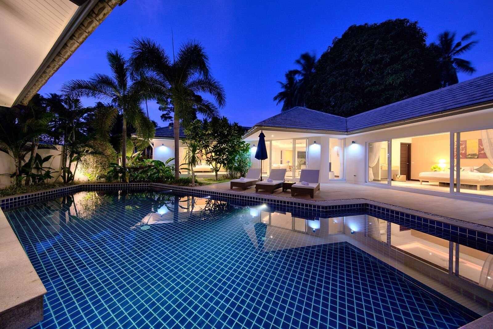2 Bedroom Garden View Villa with Private Pool at Lipa Noi Koh Samui