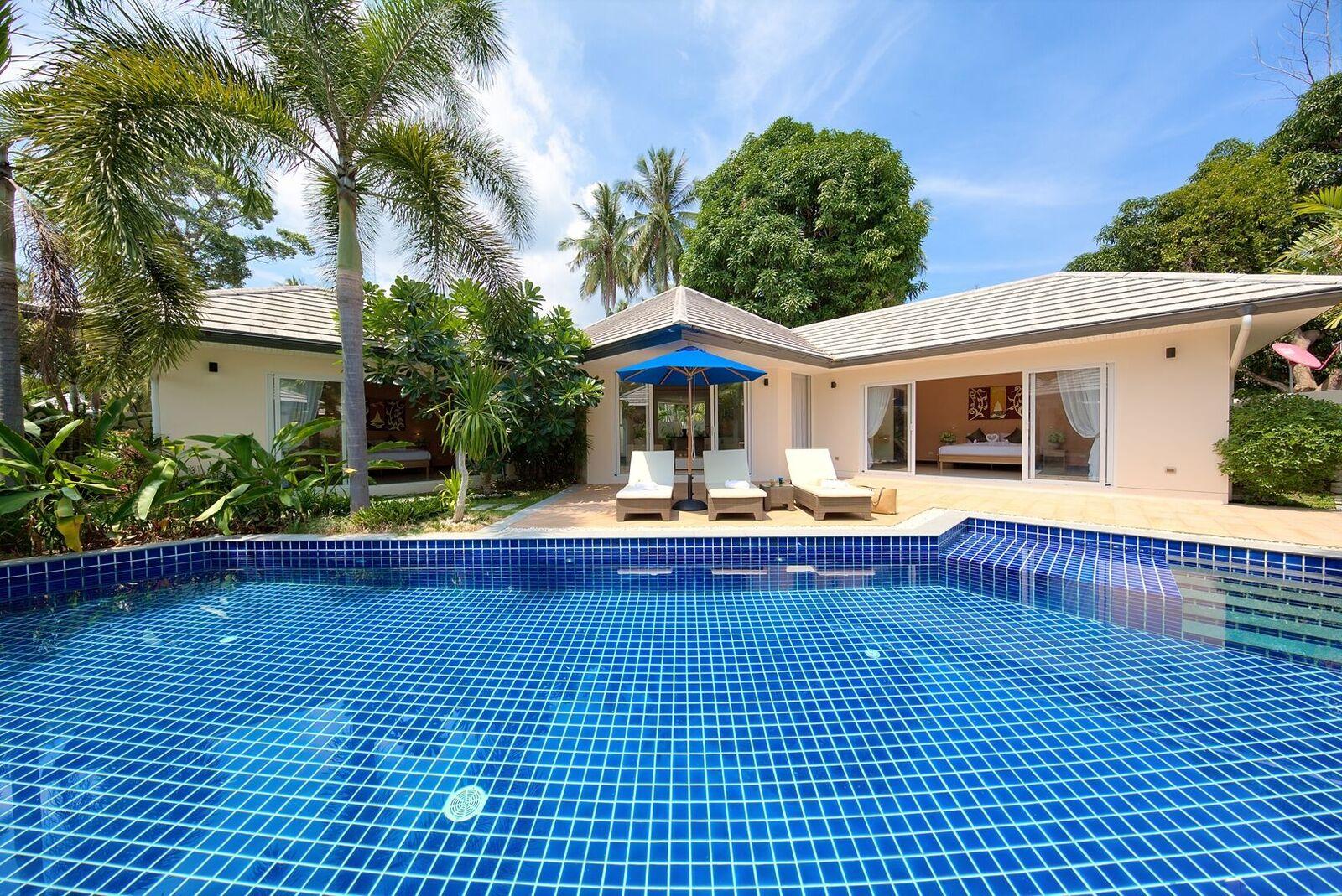 2 Bedroom Garden View Villa with Private Pool at Lipa Noi Koh Samui
