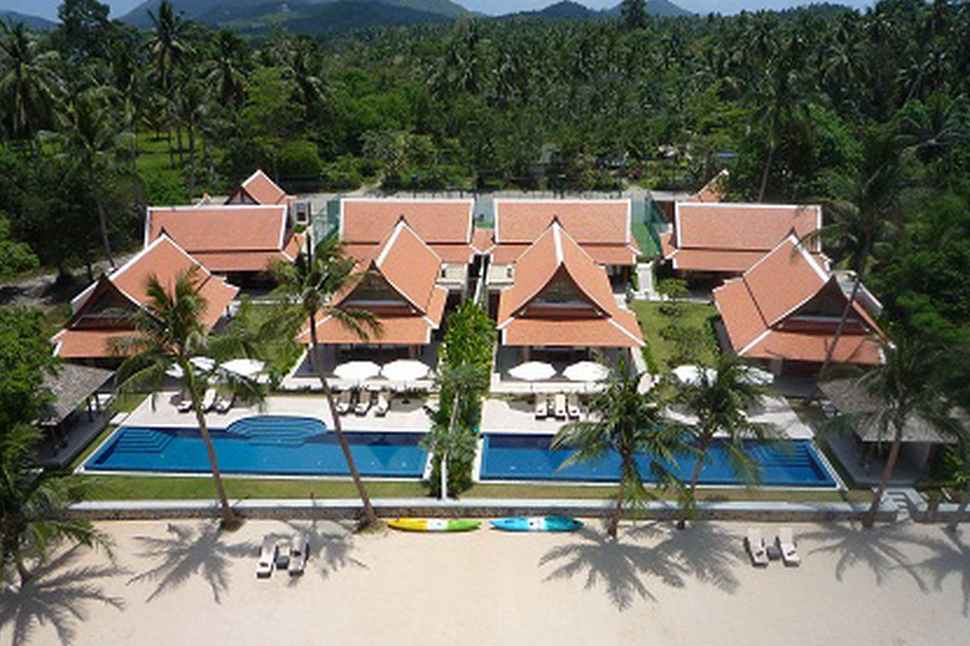 Two 5 Bedroom Side by Side Beach Front Villas at Lipa Noi Koh Samui