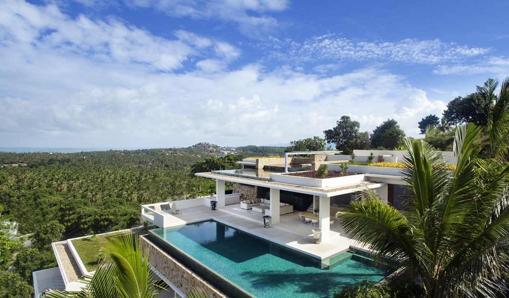 5 Bedroom Sea View Villa with Pool at Choeng Mon Ko Samui Thailand