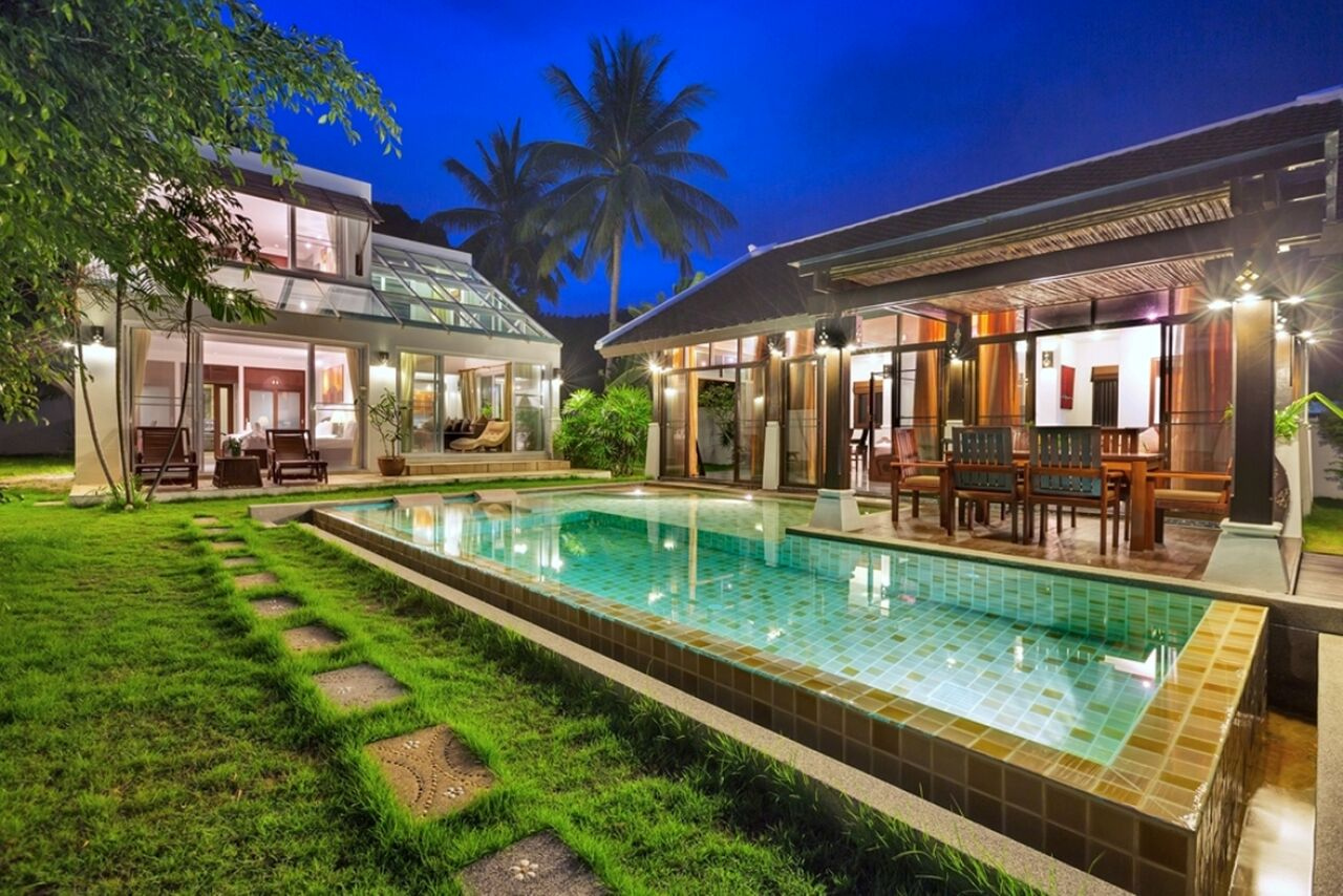 3 Bedroom Beach Front Villa with Pool at Bang Por Samui