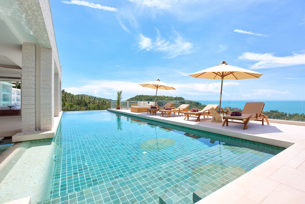 2 Bedroom Option Sea View Villa with Infinity Pool at Bang Por Koh Samui